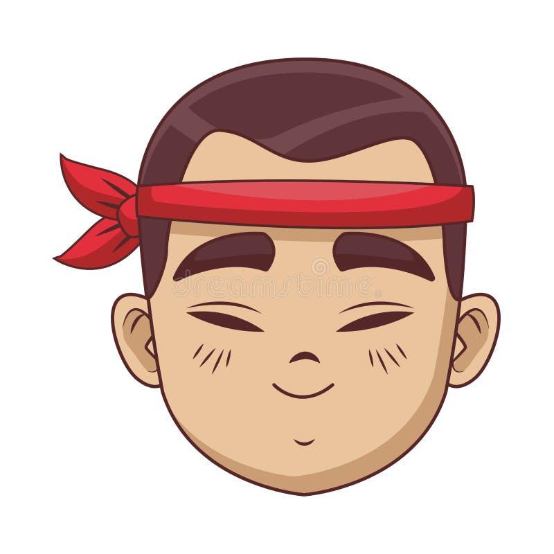 Giovane uomo asiatico illustrazione vettoriale