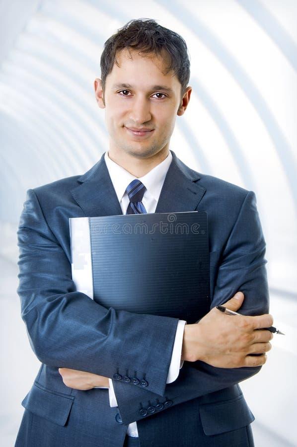 Giovane, uomo bello di affari immagine stock