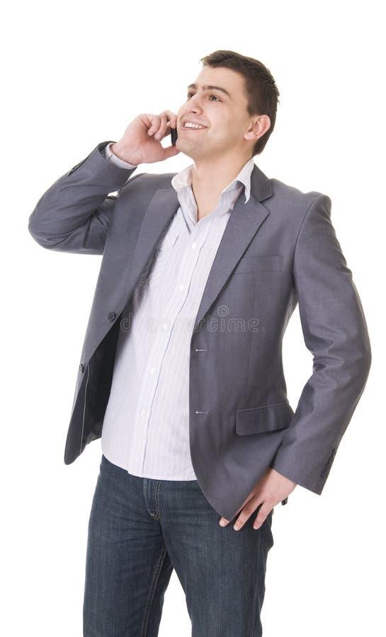 Giovane uomo casuale con il telefono fotografie stock libere da diritti