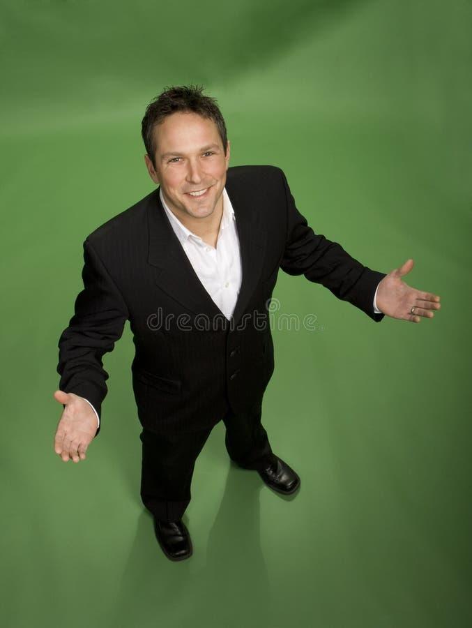 Giovane uomo d'affari accessibile immagine stock