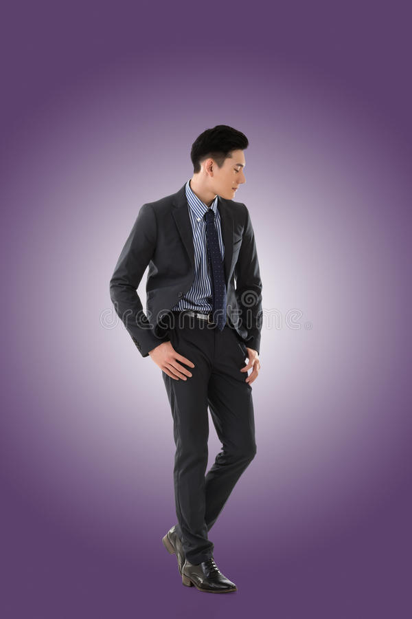 Giovane uomo d'affari asiatico immagine stock