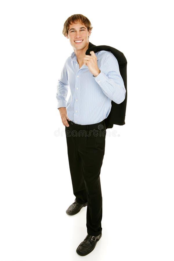Giovane uomo d'affari casuale - ente completo fotografie stock