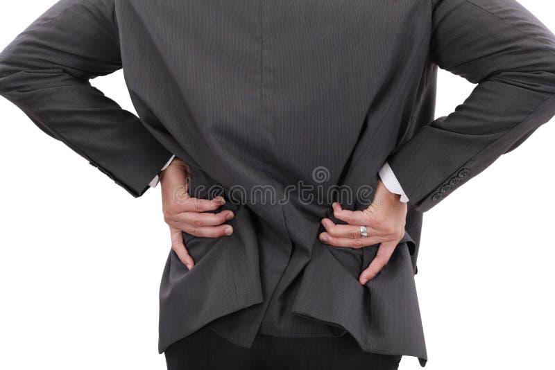 Dolore della prostata fotografie stock libere da diritti