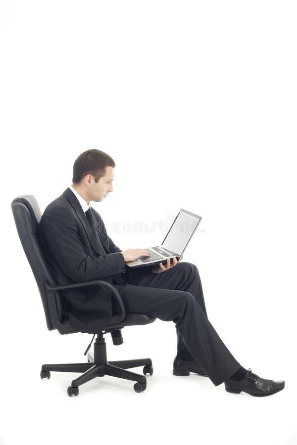 Giovane uomo d'affari con il taccuino immagine stock