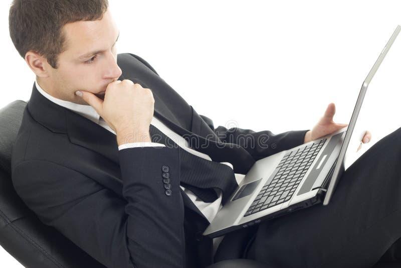 Giovane uomo d'affari con il taccuino immagini stock