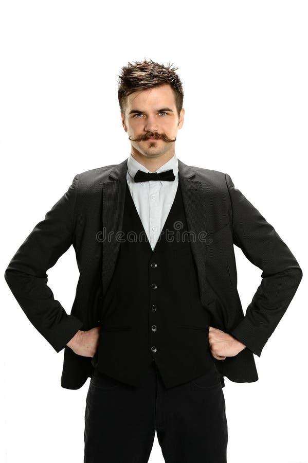 Giovane uomo d'affari With Hands sulle anche fotografia stock