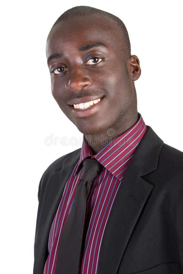 Giovane uomo d'affari nero fotografia stock