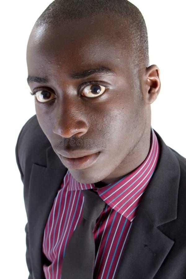 Giovane uomo d'affari nero fotografie stock libere da diritti