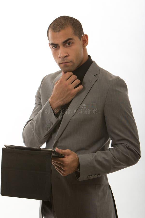 Giovane Uomo D Affari Nero Afroamericano Fotografia Stock