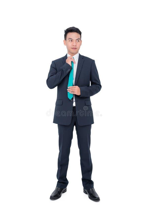 Giovane uomo d'affari sopra bianco fotografia stock libera da diritti