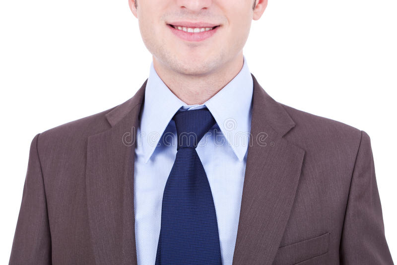 Giovane uomo di affari in un vestito fotografie stock