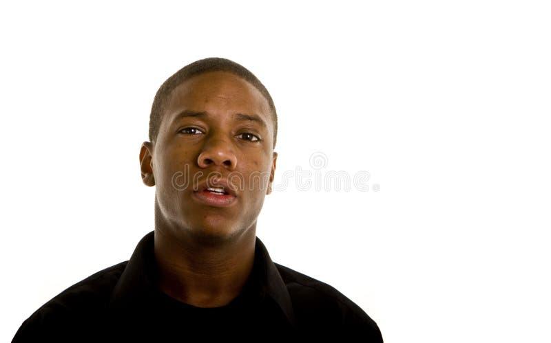 Download Giovane Uomo Di Colore Polemico Fotografia Stock - Immagine di giovane, africano: 7310024
