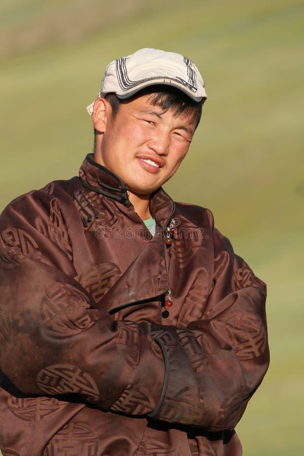 Giovane uomo mongolo immagine stock