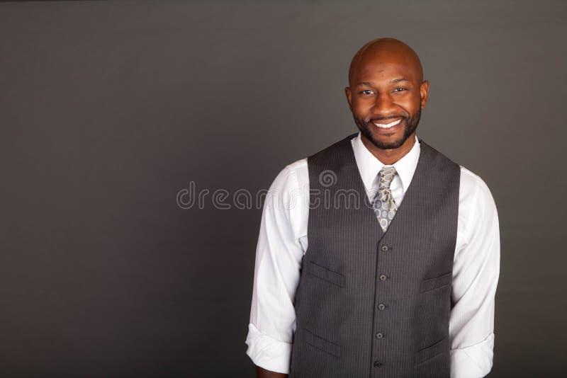 Giovane uomo nero di affari immagini stock