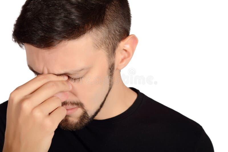 Giovane uomo triste immagine stock