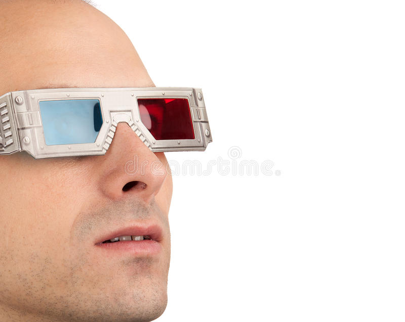 Giovane in vetri 3D fotografia stock libera da diritti