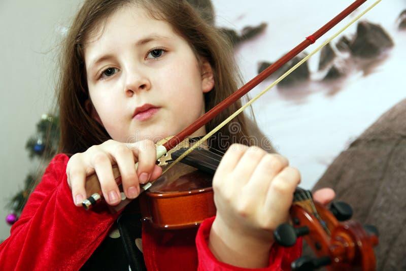 Giovane violinista fotografia stock