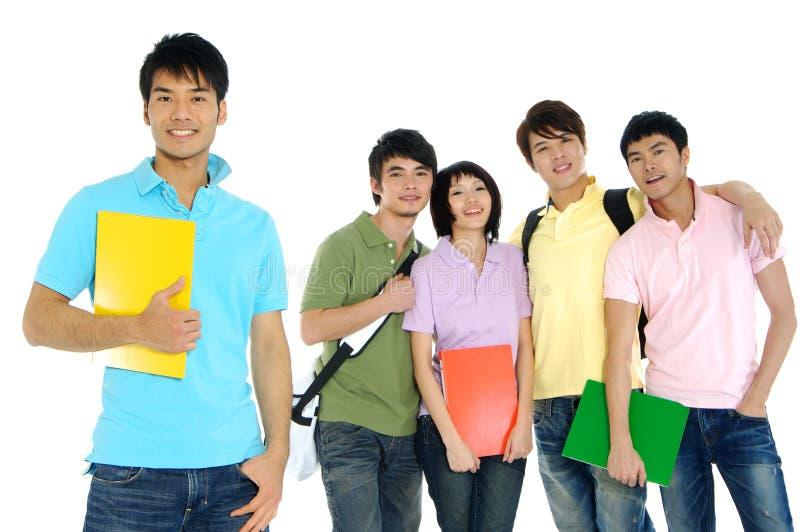 Giovani allievi asiatici immagine stock libera da diritti