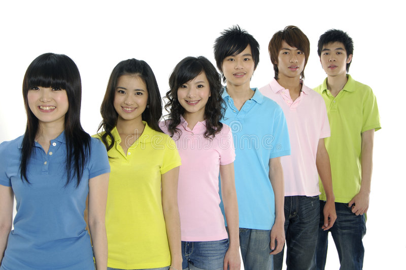Giovani allievi asiatici fotografia stock
