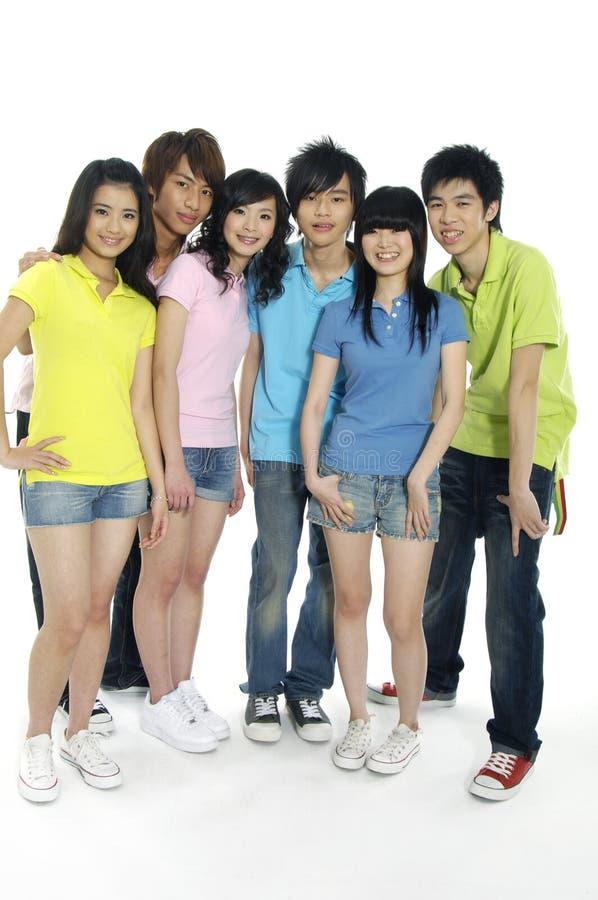 Giovani allievi asiatici fotografie stock libere da diritti