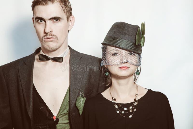 Giovani attori del teatro delle coppie fotografie stock