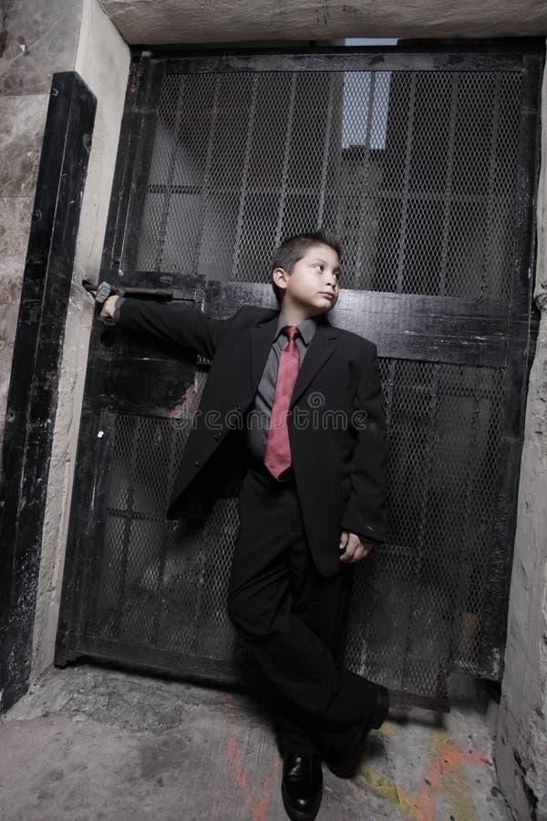 giovani bei del vestito del bambino di affari fotografia stock libera da diritti