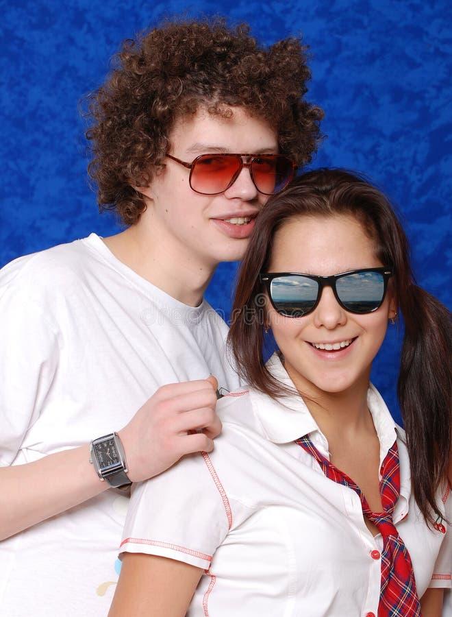 Giovani bei ragazza e mens del ritratto fotografia stock