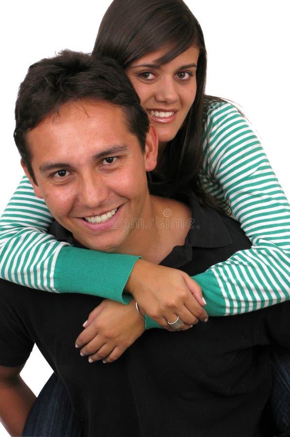 Giovani coppie amorose immagine stock