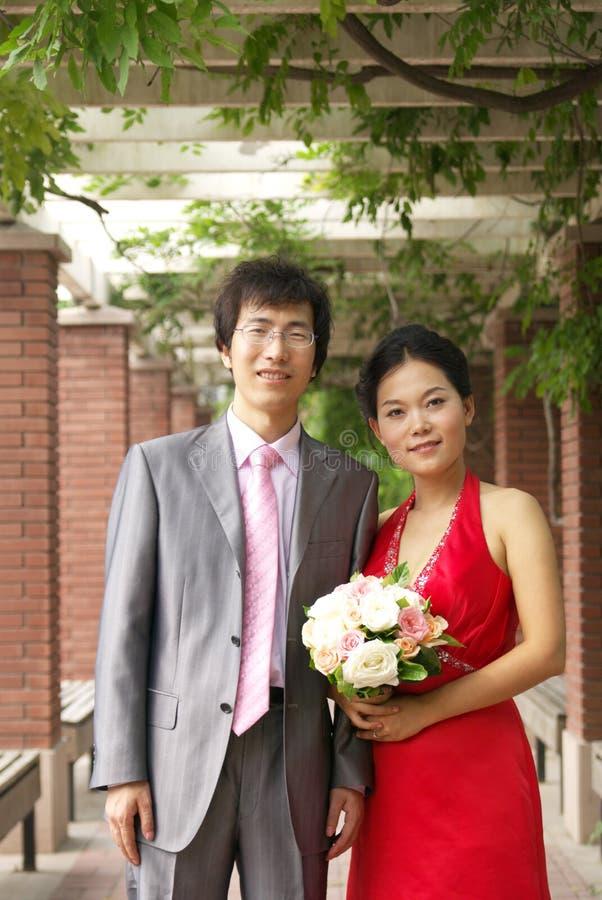 Giovani coppie asiatiche fotografia stock