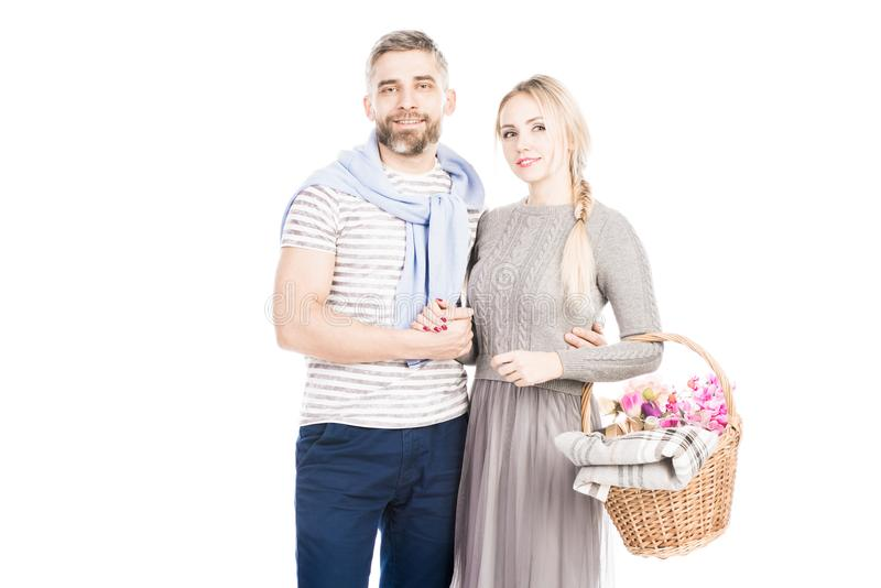 Giovani coppie casuali immagini stock libere da diritti