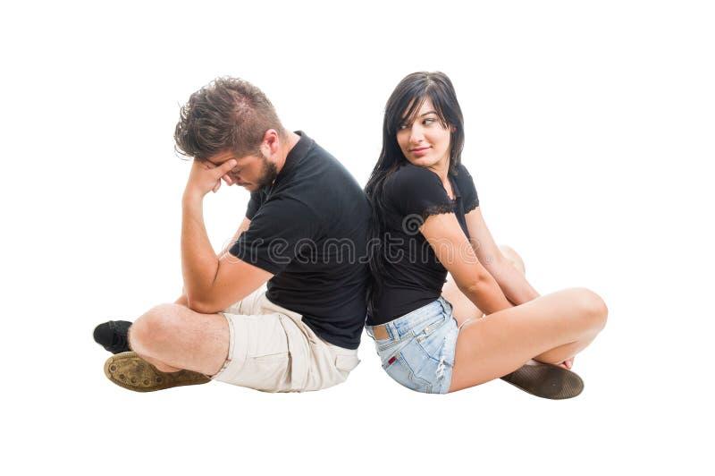 Giovani coppie che rompono su concetto immagini stock libere da diritti
