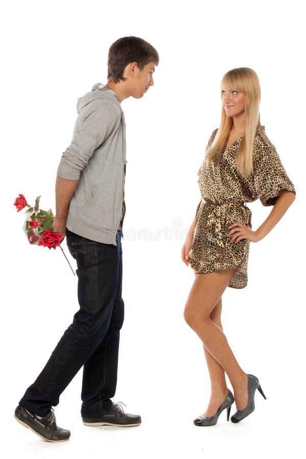 Giovani coppie enamoured immagini stock
