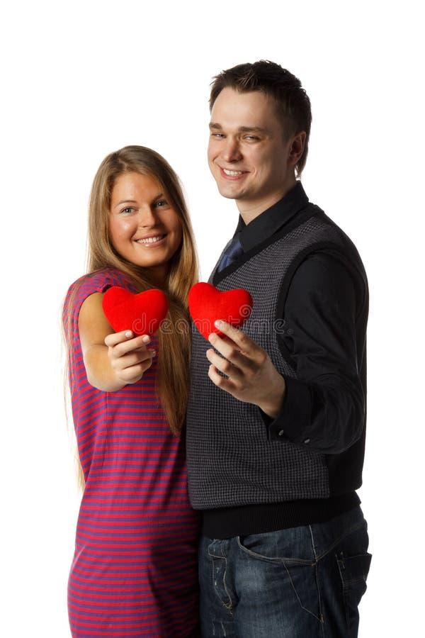 Giovani coppie enamoured fotografie stock libere da diritti