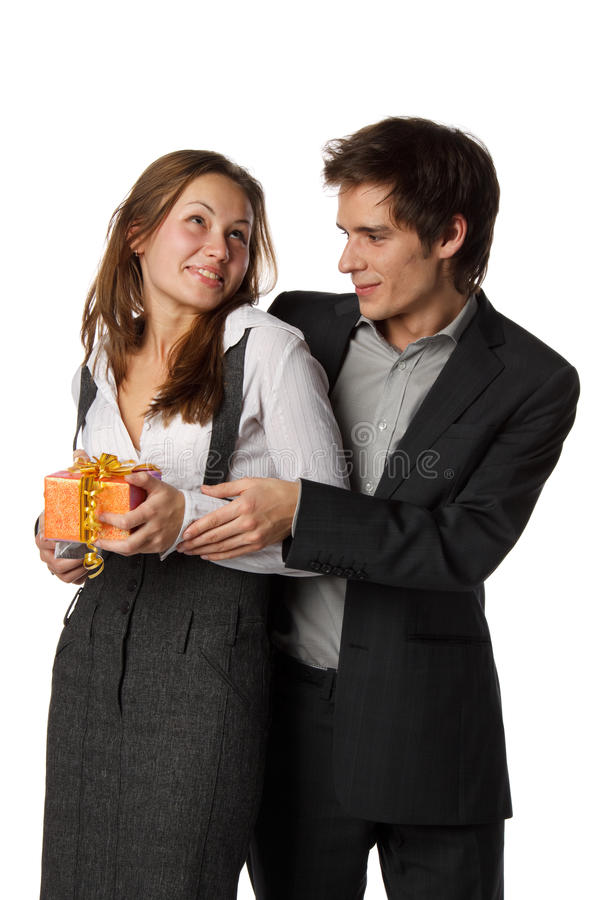 Giovani coppie enamoured fotografia stock