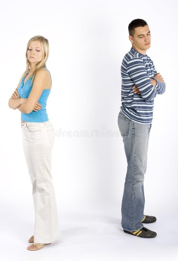 Giovani coppie offensive fotografie stock libere da diritti