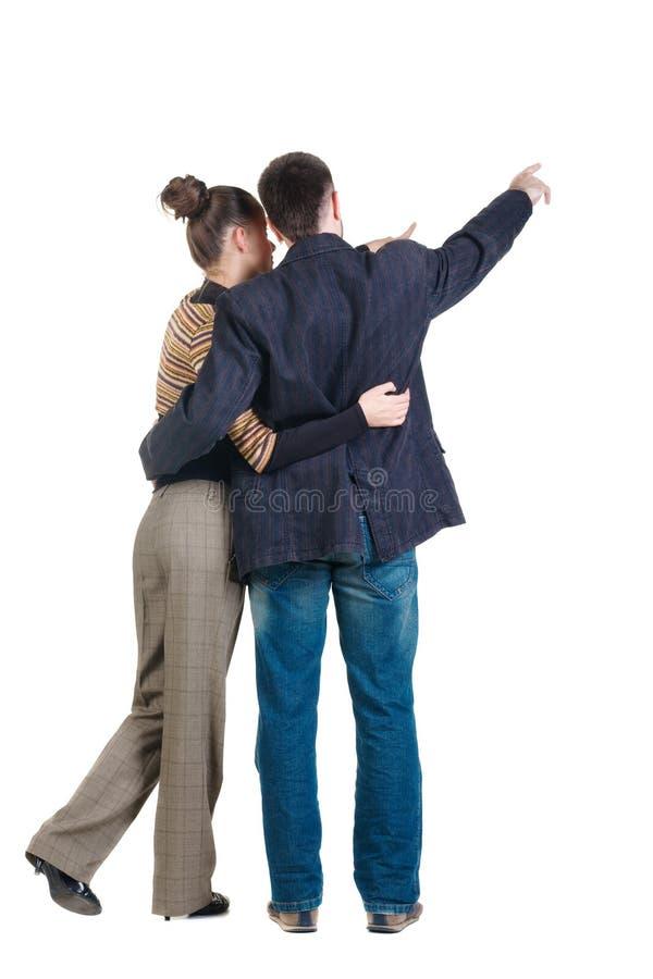 Giovani coppie. Retrovisione. fotografia stock libera da diritti