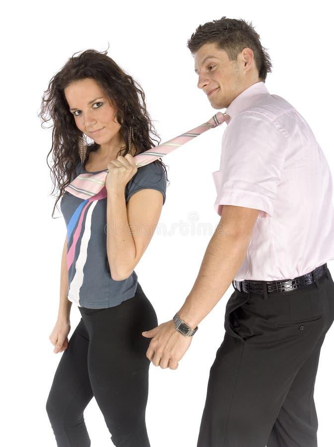 Giovani coppie - schiavo di amore fotografie stock libere da diritti