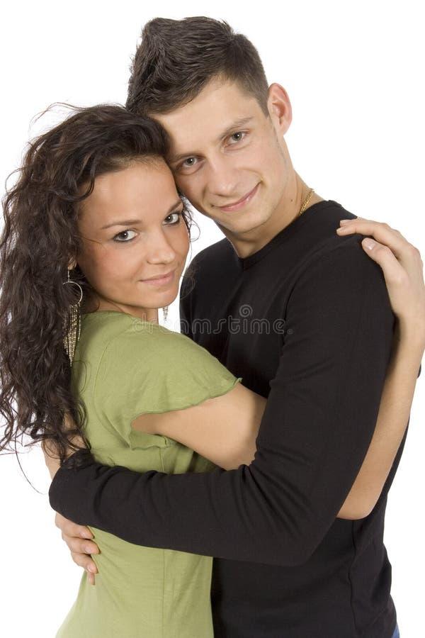 Giovani coppie snuggling immagini stock libere da diritti