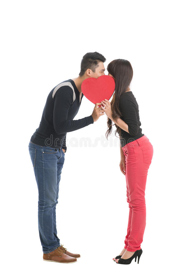 Baciare segreto fotografia stock