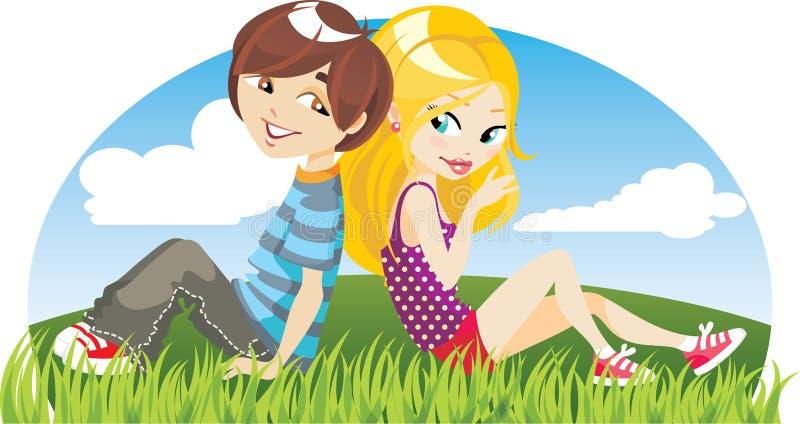 giovani della persona due royalty illustrazione gratis