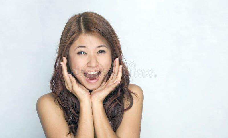 Giovani donne - espressione fotografie stock