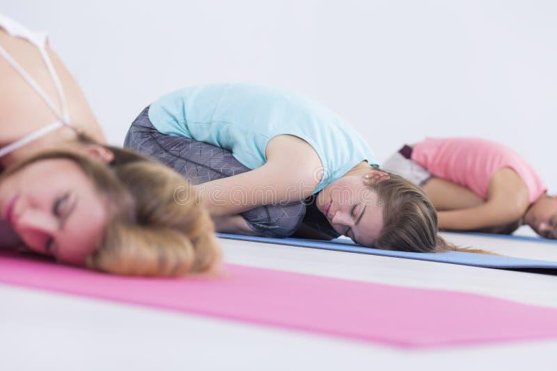 Giovani donne nella posizione di rilassamento fotografia stock