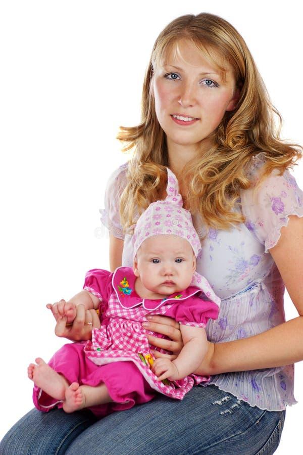 Giovani madre e babygirl immagini stock libere da diritti