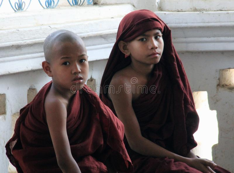 Giovani monaci del principiante immagini stock libere da diritti