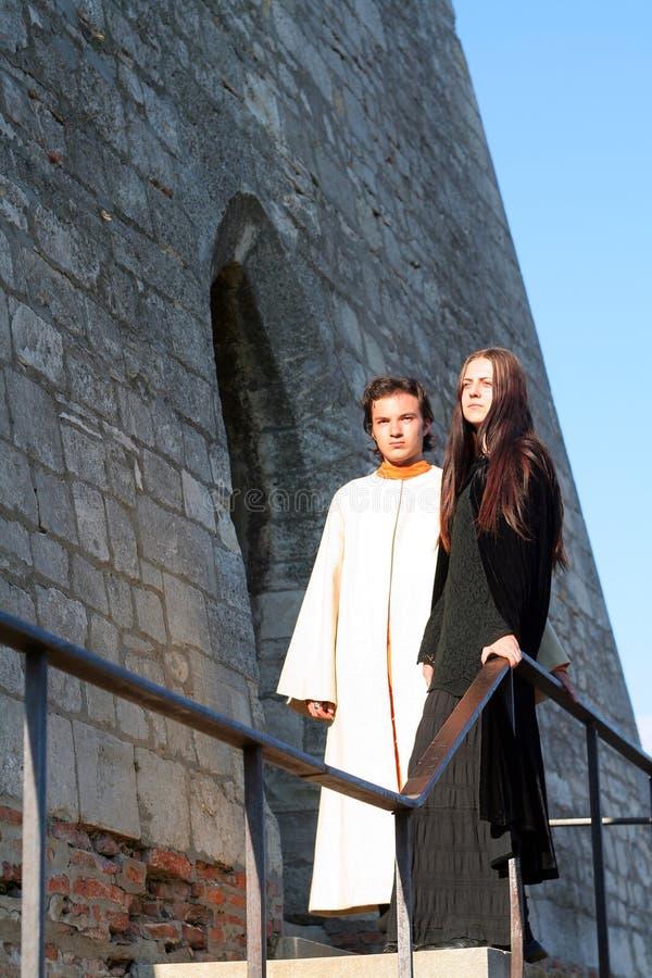 Giovani principe e principessa immagine stock