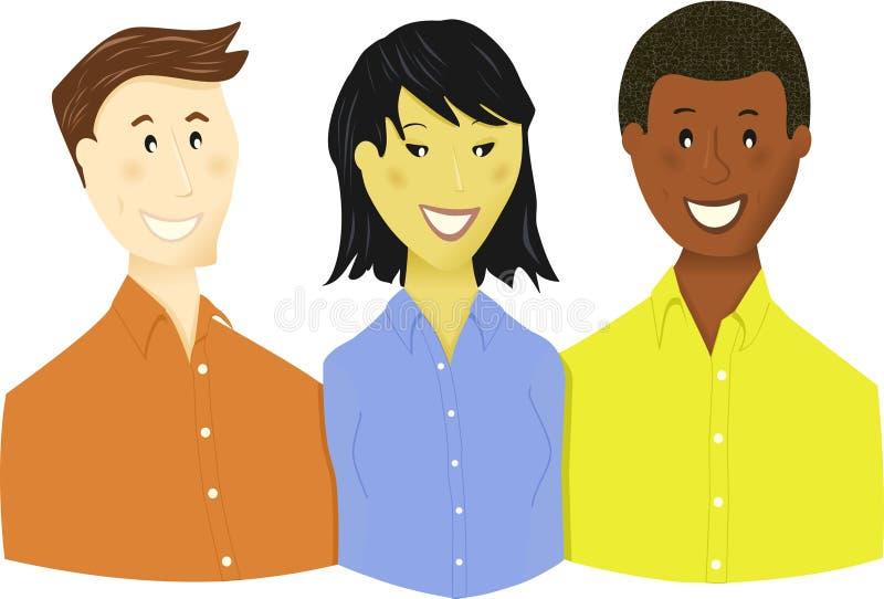 Giovani squadra o allievi di affari illustrazione vettoriale