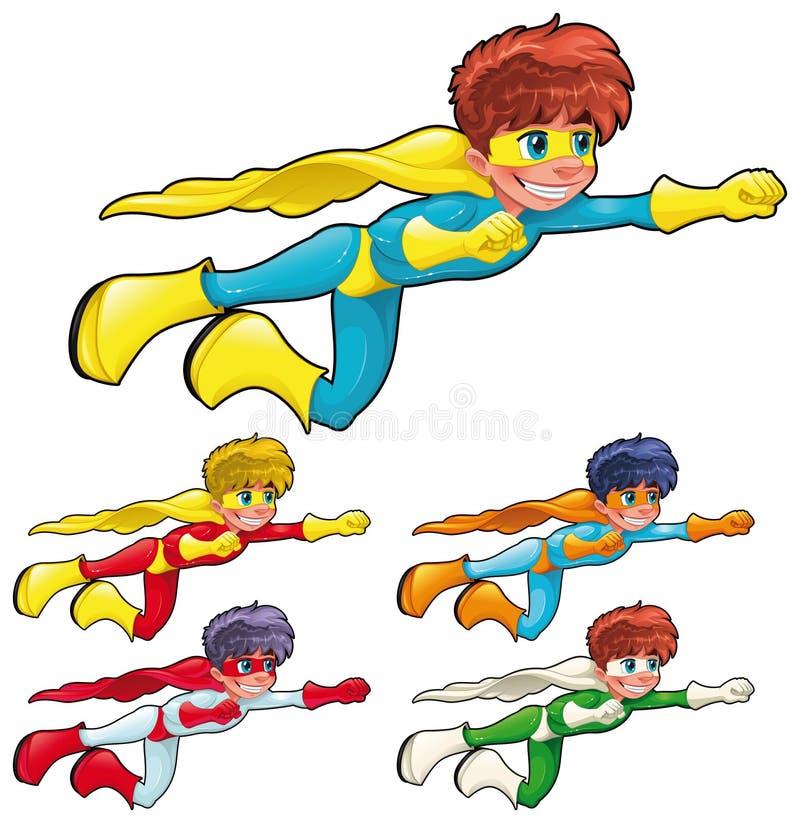 Giovani supereroi. illustrazione vettoriale