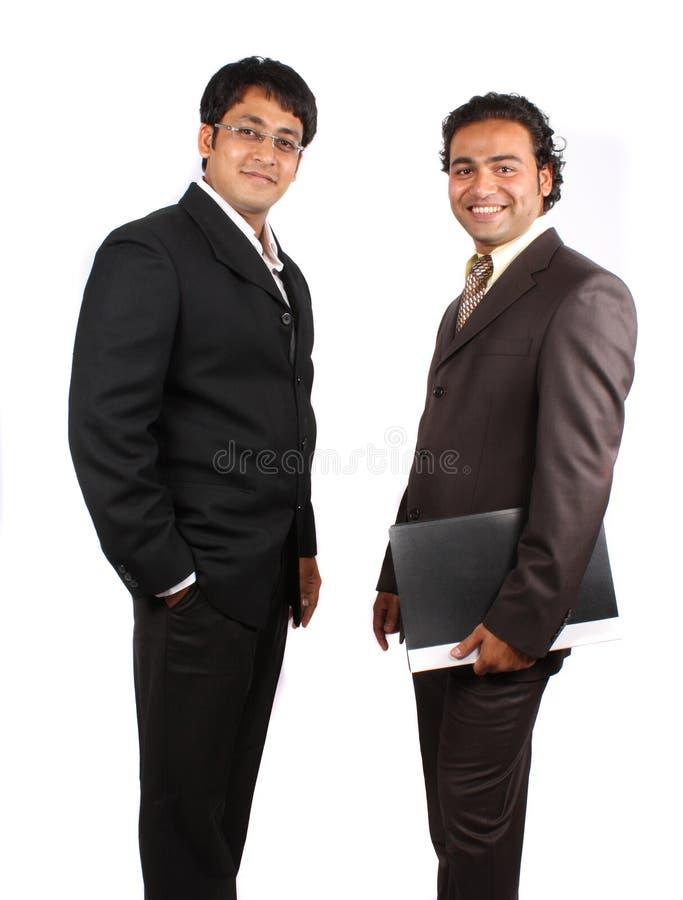 Giovani uomini d'affari indiani fotografia stock