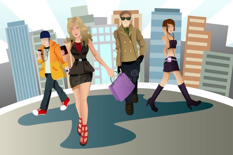Giovani urbani illustrazione di stock