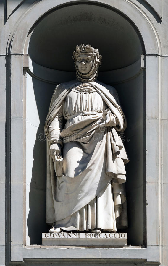 Resultado de imagen de statua boccaccio firenze uffici